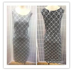 JM Collection, dress, black/white,casual, size2X.: